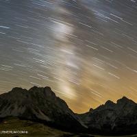 Star trails, Komovi