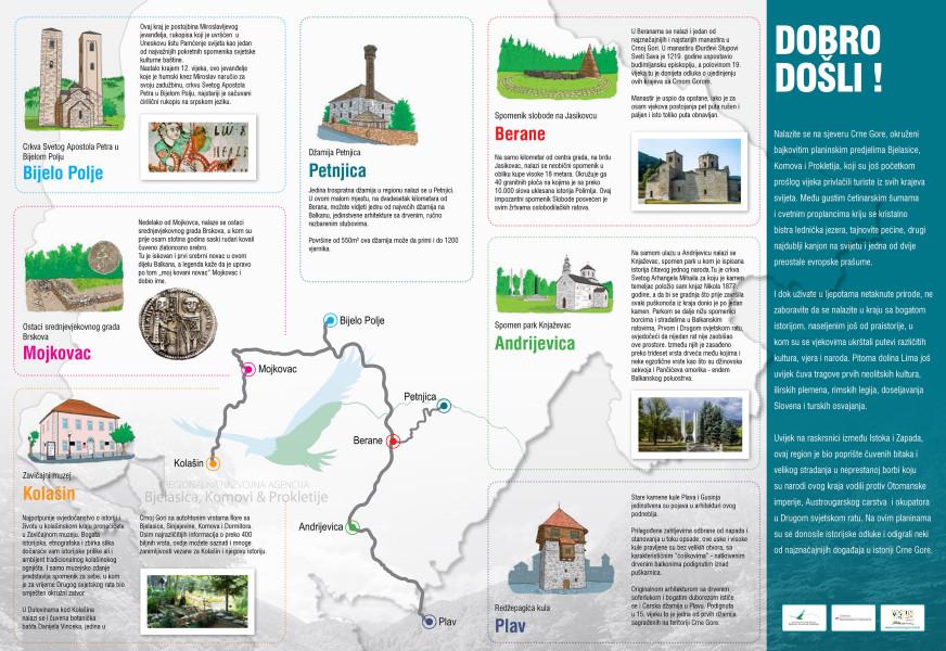 Regionalna mapa - Kulturne rute
